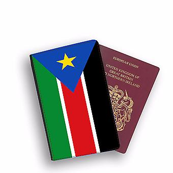 SOUTH SUDAN Flag Passport Holder Style Case Cover Protective Wallet Flags design