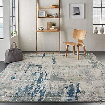 Artworks ATW05 Ivory Navy  Rectangle Rugs Modern Rugs