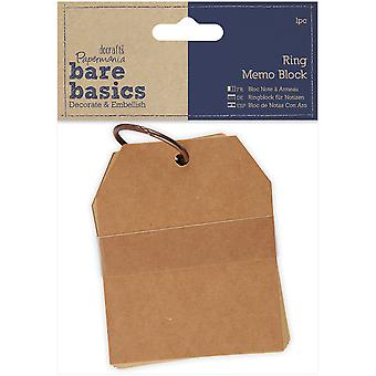 Papermania blote basisprincipes Ring Memo blok - PM174365