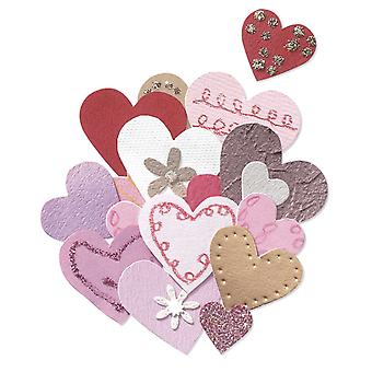 Jolee's By You Dimensional Embellishment Pink & Gold Hearts Jj B 56265