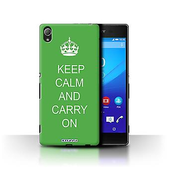 STUFF4 Case/Cover for Sony Xperia Z4/Carry On/Green/Keep Calm