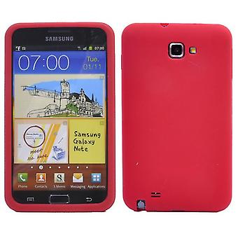 Soft silicone cover for Samsung Galaxy Note 2 (red)