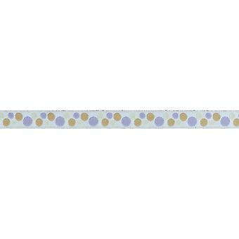 Dots Jacquard Ribbon Trim 1/2