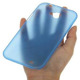 Protective cover case ultra thin 0.3 mm for mobile Samsung Galaxy touch 2 N7100 Blau transparent