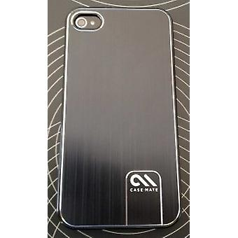 Case-mate CM014538 Barely Brushed aluminium cover for iPhone 4 / 4S - Black
