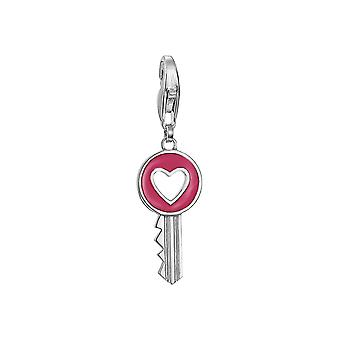 ESPRIT pendant of charms silver cubic zirconia heart key ESCH91021A000