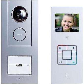 Video door intercom Corded Complete kit m-e modern-electronics Vistus VD6310 Detached Silver, White