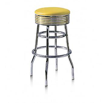 Lorton Retro Quality Bar Stool Swivel Padded Seat Various Colours