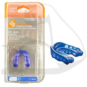 Shock Doctor Gel Max v2 Gum Shield Mouth Guard Youth Royal Blue