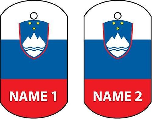 Personalised Slovenia Dog Tag Car Air Freshener