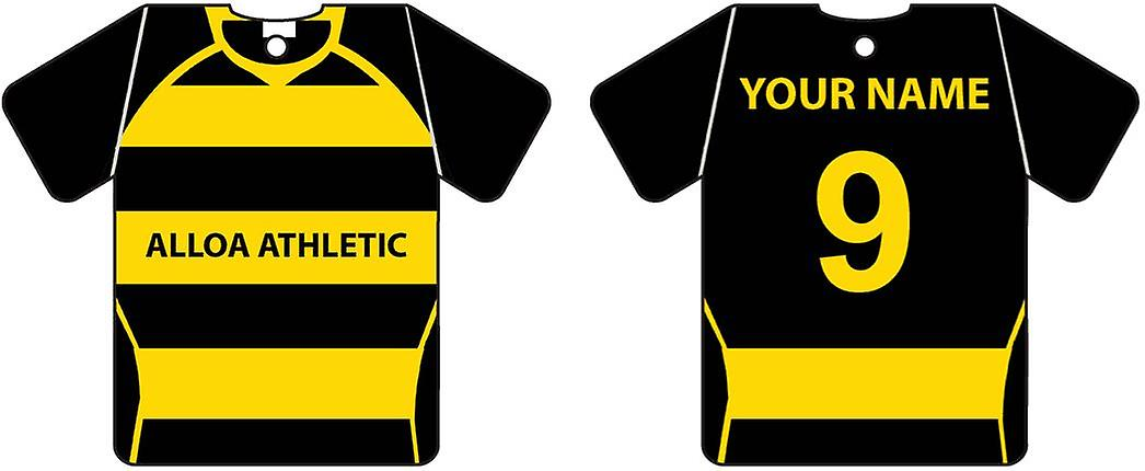 Personalisierte Alloa Athletic Football Shirt Auto Lufterfrischer