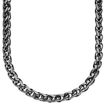 Iced out bling BASKET chain - 6.5mm black