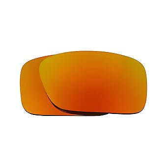 New SEEK Polarized Replacement Lenses for Oakley CRANKCASE Fire Red Mirror