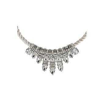 Silver Diamante Pendant Rope Necklace