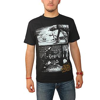 Star nero t-shirt Wars Imperial Force uomo