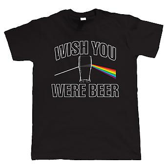 Wish You Were Beer, Funny Mens T Shirt
