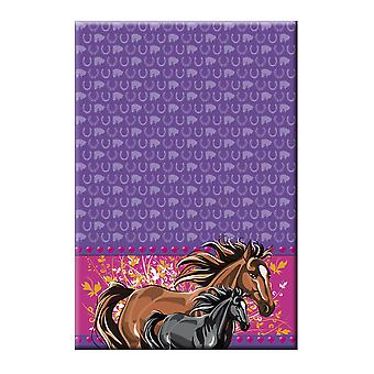 Horses tablecloth kids party 130x180cm birthday party