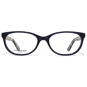 Kurt Geiger Amelia Soft Oval Acetate Glasses In Navy
