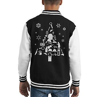 Christmas Tree Sherlock Holmes Kid's Varsity Jacket