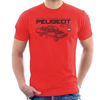 Haynes Workshop manuelle 0762 Peugeot 505 Herren T-Shirt schwarz