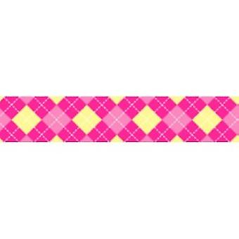 Tuff Lock Collars Large Argyle Pink