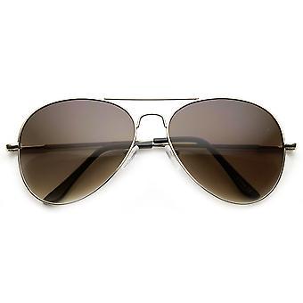 Clásico lacrimógeno gota primavera templo alambre Metal Aviator gafas de sol 58mm