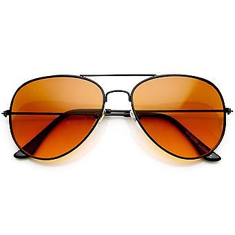 Driving Lens Blue Block Classic Metal Aviator Sunglasses