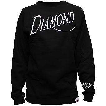 Diamond Supply Co Old Script Sweatshirt Black