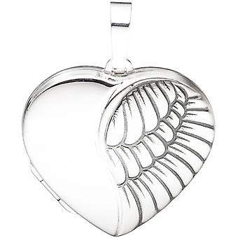 925 sterling silver Locket heart matte finish to open 2 photos