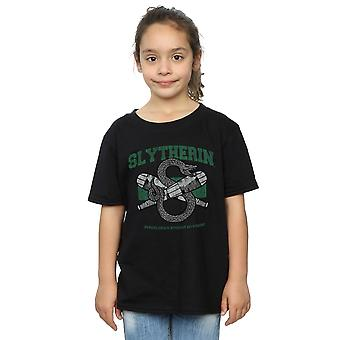 Harry Potter Quidditch Serpeverde emblema t-shirt