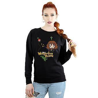 Harry Potter Women's Hermione Granger Wingardium Leviosa Junior Sweatshirt