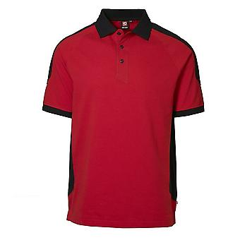 ID Mens Pro Wear Contrast Regular Fitting Short Sleeve Polo Shirt