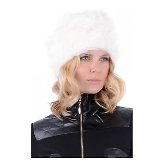The Fashion Bible Celeb Style Faux Fur Pill Box Hat In White