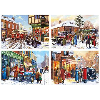 Gibsons Winter About Town Jigsaw Puzzle (4 x 500 Pieces)