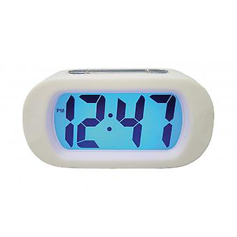 Balance Quartz Alarm Clock Digital White