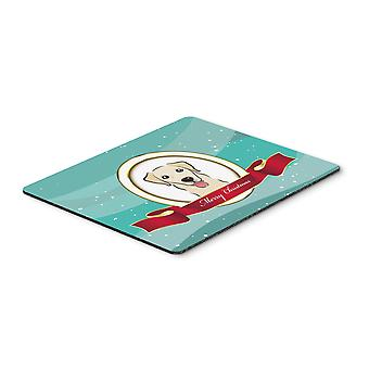 Golden Retriever Merry Christmas Mouse Pad, Hot Pad or Trivet