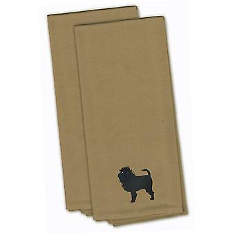 Affenpinscher Tan bestickt Küche Handtuch-Set 2