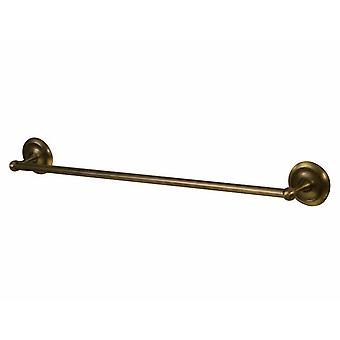 Retro Bathroom Antique Brass Wall Mounted Bath Rack Single Towel Bar 460/610mm