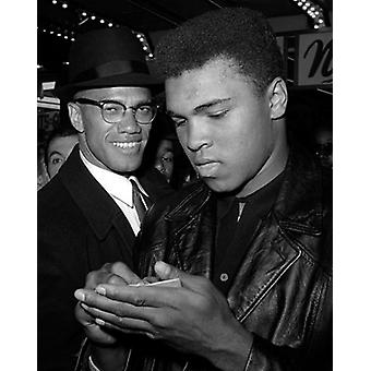 Muhammad Ali and Malcolm X NYC March 1 1964 Poster Print by McMahan Photo Archive (8 x 10)