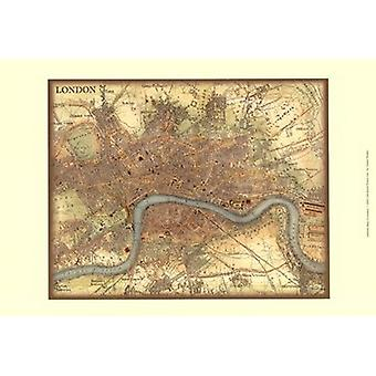 Map of London Poster Print by Vision studio (19 x 13)