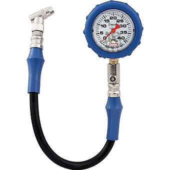 QuickCar Racing Products 56-041 Tire Pressure Gauge with Swivel Chuck and Relief Valve