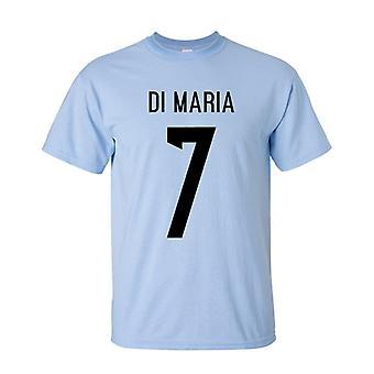Angel Di Maria Argentina Hero T-shirt (sky)