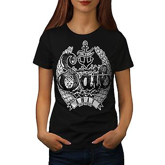 Segeln wir auswärts Slogan Frauen BlackT-Shirt | Wellcoda