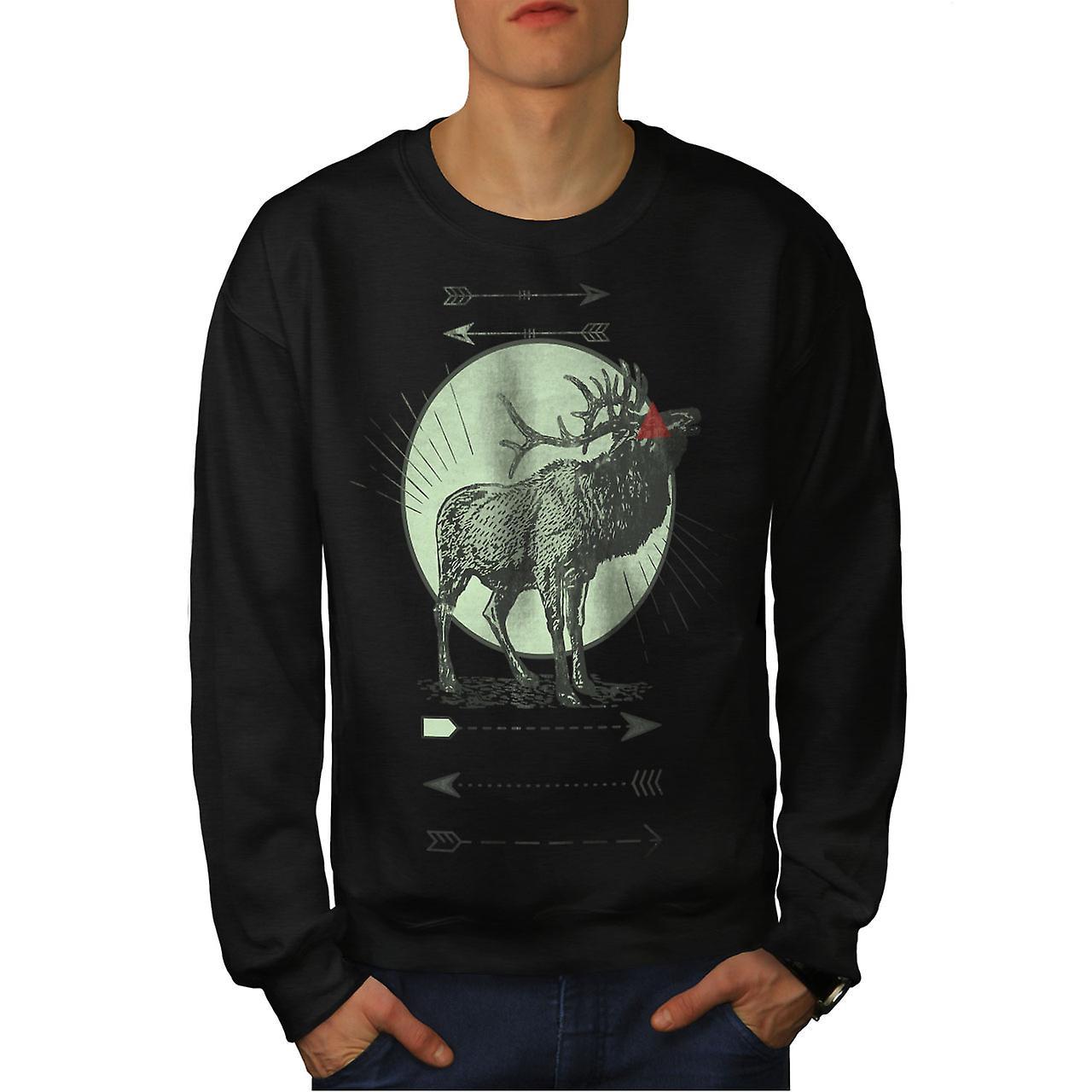 Cerf cerf lune Men noirSweatshirt
