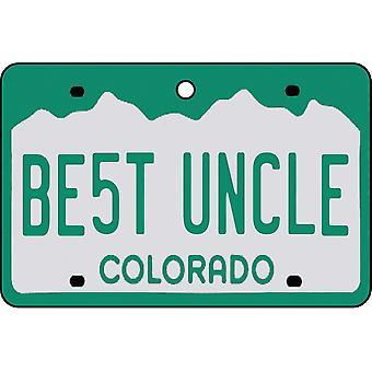 Colorado - Best Uncle License Plate Car Air Freshener