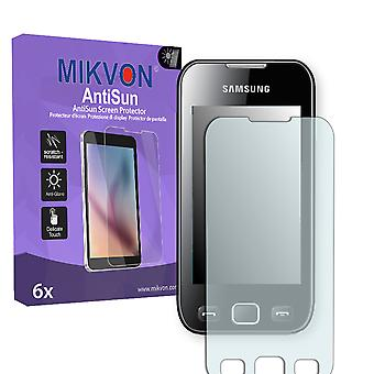 Samsung Wave 533 (GT-S5330) Screen Protector - Mikvon AntiSun (Retail Package with accessories)