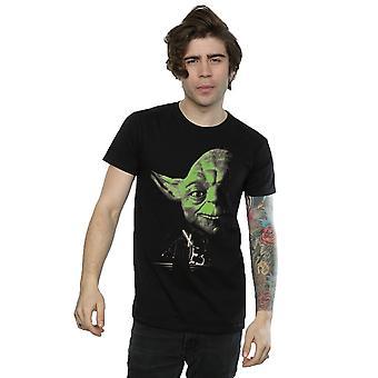 Star Wars Men's Yoda Green Face T-Shirt