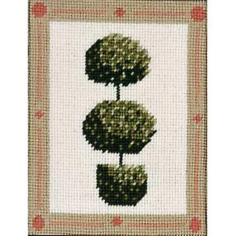 Topiary Tree with Spheres Needlepoint Kit