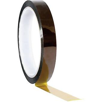 Tape TOOLCRAFT Amber (L x W) 33 m x 9 mm Silicone