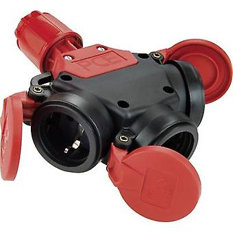 3-way connector Rubber 230 V Black, Red IP44